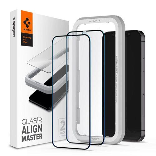 SPIGEN Szkło ALM FC 2-PACK do iPhone 12 MINI czarne